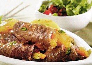 Receita de bife à rolê com batata