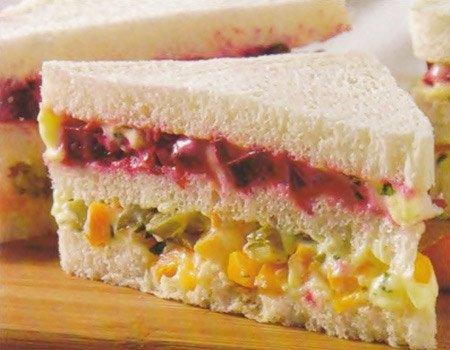 Sanduíche de pão de forma