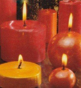 Velas cintilantes para a decoração de Natal