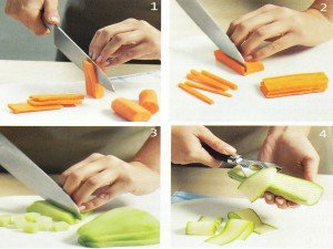 Como cortar vegetais passo a passo