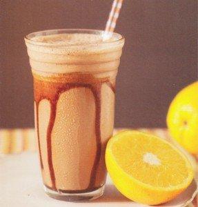 Receita de frapê de chocolate e laranja