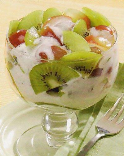 Receita de sobremesa de frutas cremosas