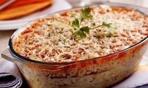 Receita de lasanha de arroz