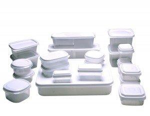 Dicas para limpar potes de plástico
