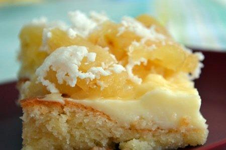 Receita de bolo de abacaxi com coco