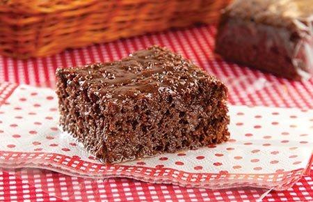 Receita de bolo gelado de chocolate