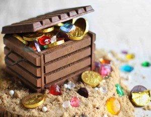 Como fazer um baú do tesouro com doces