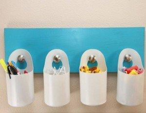 Como fazer organizadores de potes de plástico