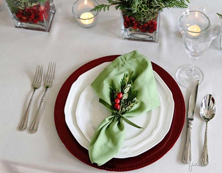 Dicas de decoração da mesa de Natal
