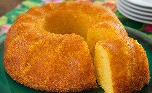 Receita de bolo com flocão de milho