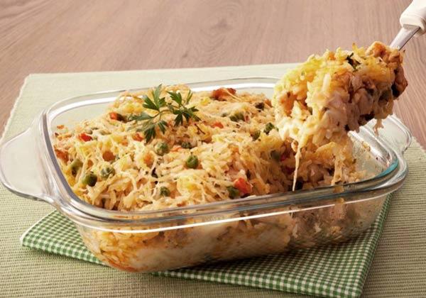 Receita de arroz de forno completo