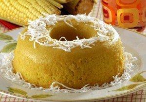 Receita de bolo de milho verde