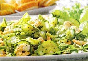 Receita de salada de abobrinha e camarão