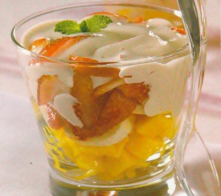 Receita de salada de frutas com zabaione