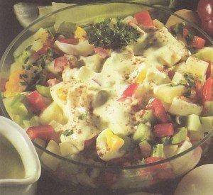 Receita de salada de batata com iogurte