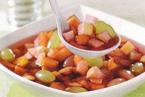 Receita de sopa de futas