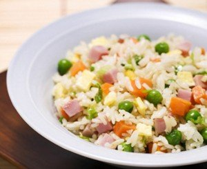 Receita de arroz chinês