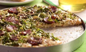 Receita de pizza de calabresa e escarola