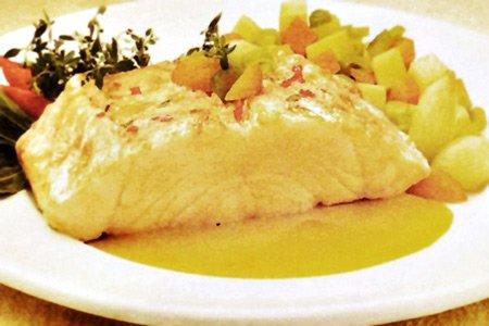 Receita de bacalhau com molho de laranja