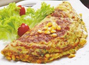 Receita de omelete caipira