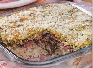 Receita de pavê de arroz