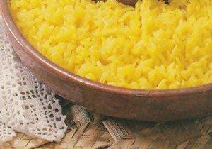 Receita de arroz amarelinho