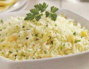 Receita de arroz no micro-ondas