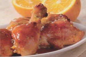 Receita de frango ao forno com molho de laranja