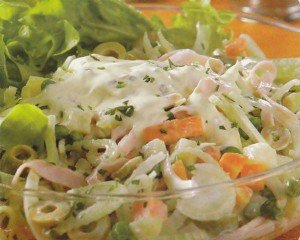 Receita de maionese de legumes com peito de peru