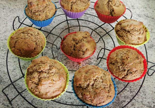 Receita de muffins funcional de maçã