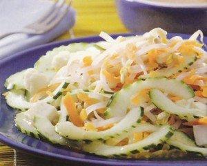 Receita de salada com pepino