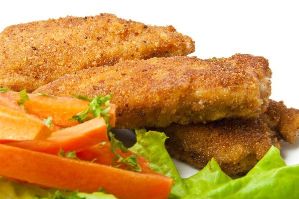 Receitas de filezinhos de frango empanados e assados
