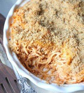Receita de espaguete ao forno