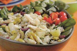 Receita de salada de bacalhau