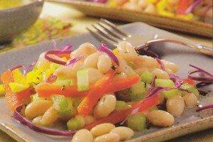 Receita de salada de feijão branco