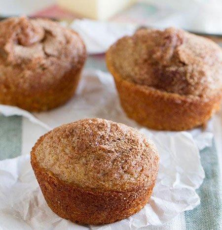Receita de muffins de canela