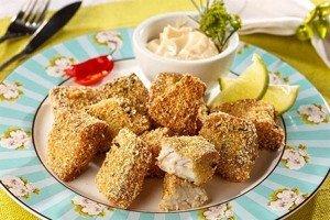Receita de peixe crocante com ervas