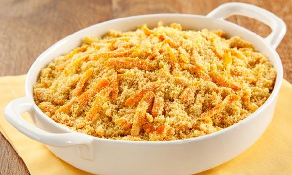 Receita de farofa de cenoura