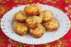 Receita de mini-fritada de presunto e queijo
