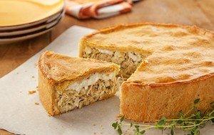 Receita de torta de frango com queijo