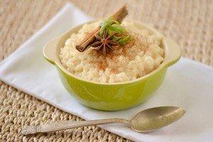 Receita de arroz doce cremoso