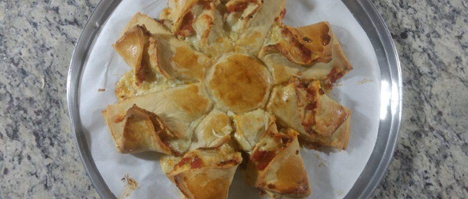 Estrela om recheio de queijo mussarela